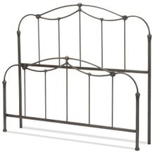 See Details - Affinity Metal Headboard and Footboard Bed Panels with Spindles and Detailed Castings, Blackened Taupe Finish, Queen