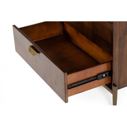 VIG Furniture - Modrest Shane - Modern Acacia & Brass Dresser