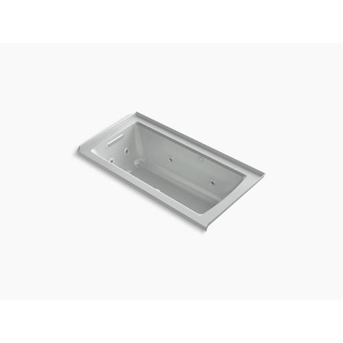 "Ice Grey 60"" X 30"" Integral Flange Whirlpool + Heated Bubblemassage Air Bath With Left-hand Drain"