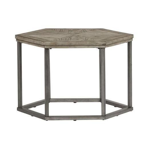 Hexagon Bunching Cocktail Table (1/Ctn) - Ash Blonde Finish