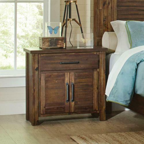 Coaster - Sutter Creek Vintage Bourbon One-drawer Nightstand With Two Doors