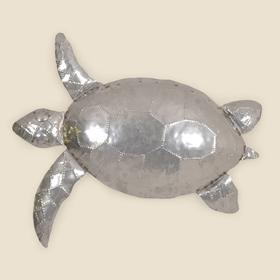 Small Stainless Steel Sea Turtle Wall Hanging