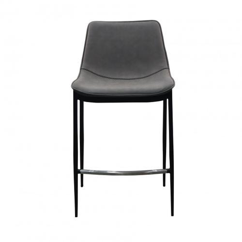 VIG Furniture - Modrest Jane - Modern Grey & Black Counter Stool (Set of 2)