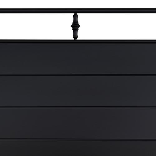 Gallery - Barton Queen Headboard With Frame, Textured Black