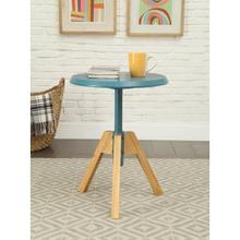 TEAL END TABLE