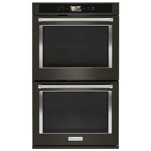 """Smart Oven+ 30"""" Double Oven with Powered Attachments and PrintShield™ Finish Black Stainless Steel with PrintShield™ Finish Product Image"""