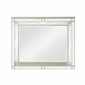 ACME Marcellus Mirror - 22184 - Glam - Mirror, Wood (Pine), MDF, Ply - Silver