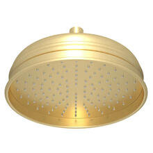 View Product - 8 Inch Bordano Rain Anti-Calcium Showerhead - Satin Unlacquered Brass
