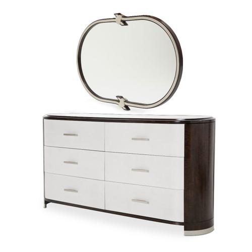 Storage Console- Dresser W/mirror 2 PC