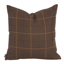 "Pillow Cover 20""x20"" Oxford Chocolate/Felt Chocolate (Cover Only)"