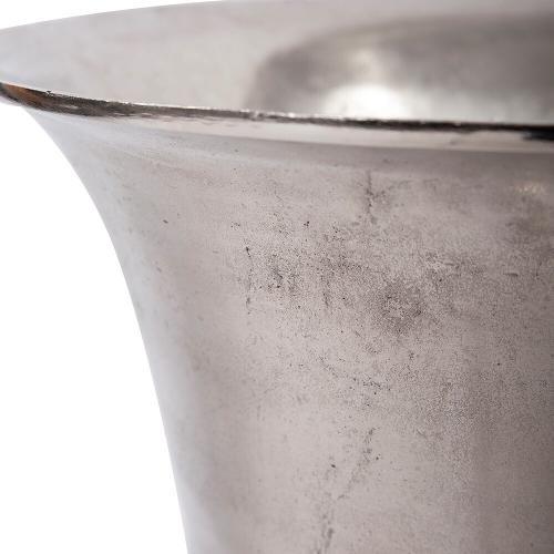 Howard Elliott - Silver Aluminum Footed Oversized Vase, Large