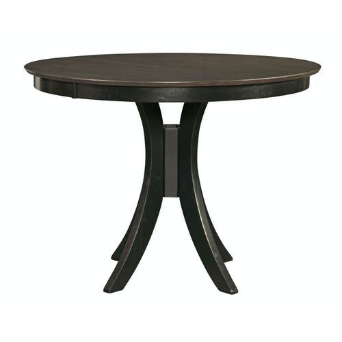 John Thomas Furniture - 36'' H Siena Pedestal Table in Coal & Black