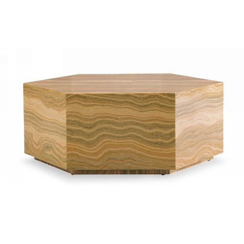 VIG Furniture - Modrest Lacuna - Glam Amber and Gold Marble Coffee Table