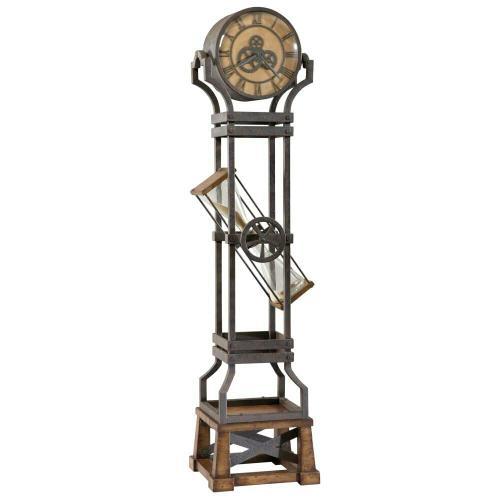 Howard Miller Hourglass Metal Grandfather Clock 615074