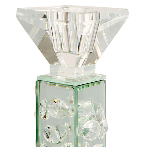 Slender Mirrored Crystal Candle Holder Large (6/pack)