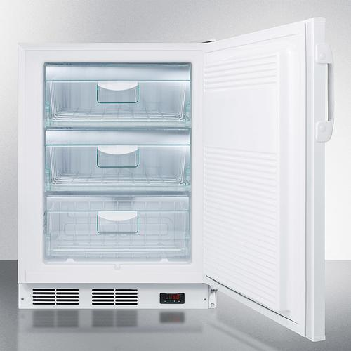 ADA Compliant Momcube All-freezer for Storage of Breast Milk, With Manual Defrost, Front Lock, and Reversible Door