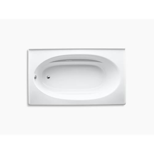 "Biscuit 72"" X 42"" Alcove Bath With Integral Apron and Left-hand Drain"