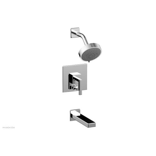 MIX Pressure Balance Tub and Shower Set - Lever Handle 290-27 - Polished Chrome