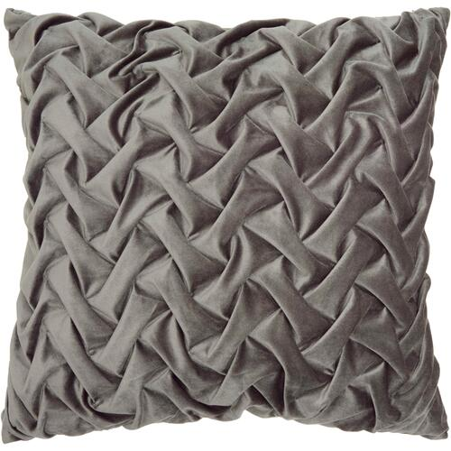"Life Styles L0064 Dark Grey 22"" X 22"" Throw Pillow"