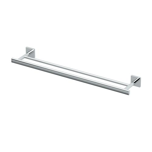 Elevate Double Towel Bar in Brushed Brass
