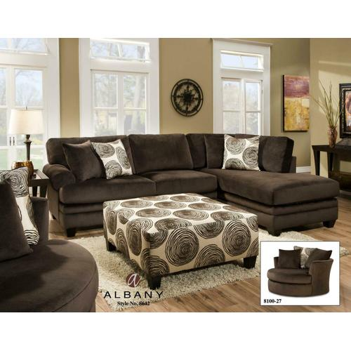 Groovy Chocolate 2PC RAF Chaise Sectional