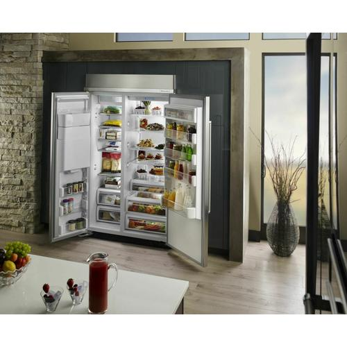 KitchenAid - 48-Inch width built-in side by side refrigerator with printscield™ finish - Other