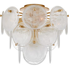 AERIN Loire 4 Light 15 inch Gild Tiered Flush Mount Ceiling Light, Medium