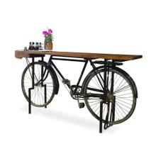 View Product - Small Recycled Bicycle Gathering Table
