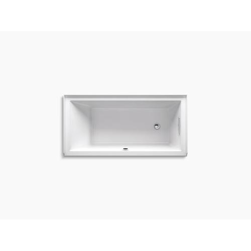 "Ice Grey 60"" X 30"" Alcove Bath With Bask Heated Surface, Integral Flange and Right-hand Drain"