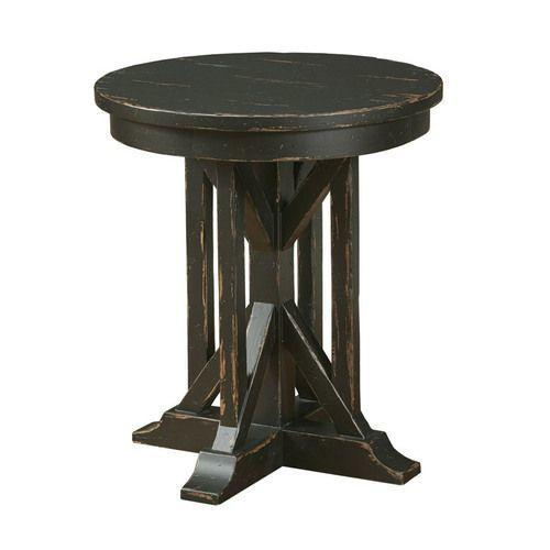 """Gallery - Mill House 22"""" James Round End Table - Anvil Finish"""