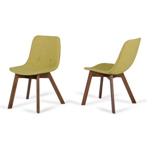 VIG Furniture - Laken - Modern Green Tea & Walnut Dining Chair (Set of 2)
