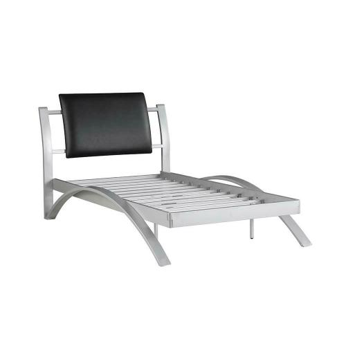 Leclair Contemporary Black and Silver Youth Twin Bed
