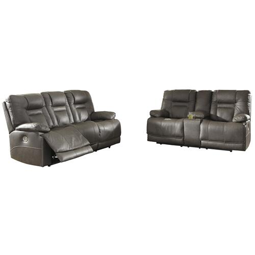 Signature Design By Ashley - POWER SOFA WITH ADJUSTABLE HEADREST AND LUMBAR