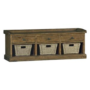 Hillsdale Furniture - Tuscan Retreat® Bench With 3 Drawers - Old World Pine