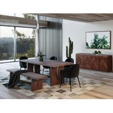View Product - Modrest Amos Modern Concrete & Acacia Dining Table
