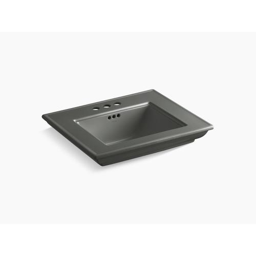 """Thunder Grey 24"""" Pedestal/console Table Bathroom Sink Basin With 4"""" Centerset Faucet Holes"""