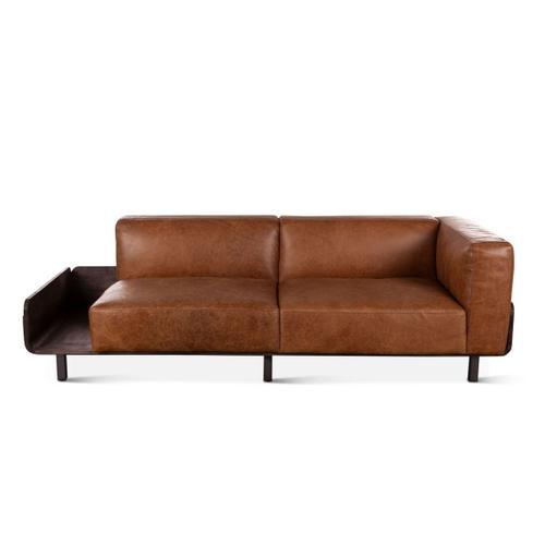 Portofino Leather 3-Seater Tan Sofa