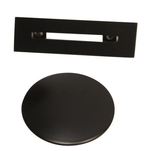 """Patrick 67"""" Acrylic Tub with Integrated Drain and Overflow - Matte Black Drain and Overflow"""