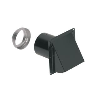 Broan-NuTone® Steel Wall Cap for 3-Inch and 4-Inch Round Duct, Black -