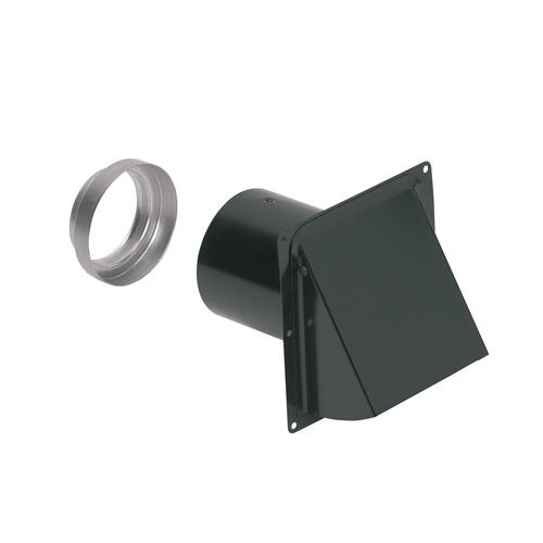 Broan-NuTone® Steel Wall Cap for 3-Inch and 4-Inch Round Duct, Black