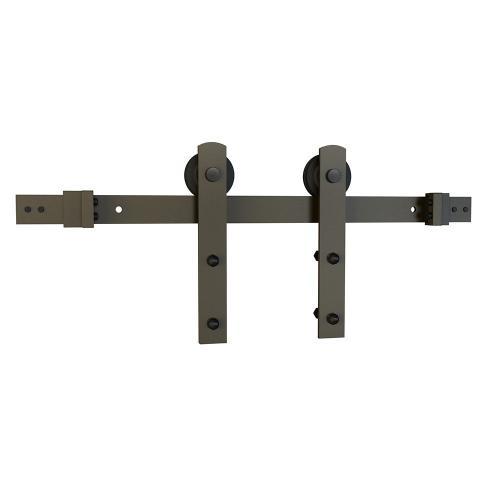 Schlage - Sliding Barn Door Hardware - 8' I Strap - Dark Bronze