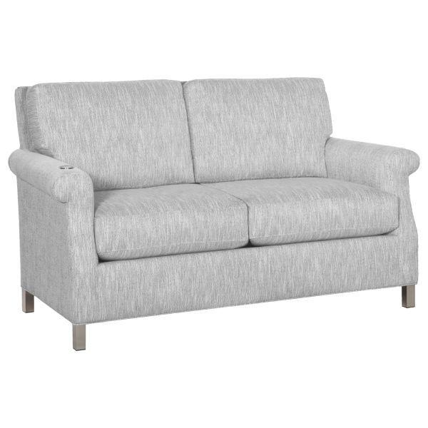 Greek Key Arm Loveseat