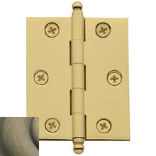 Satin Brass and Black Cabinet Hinge