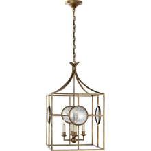 E. F. Chapman Gramercy 4 Light 17 inch Gilded Iron Foyer Pendant Ceiling Light
