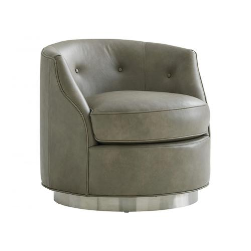 Piper Leather Swivel Chair