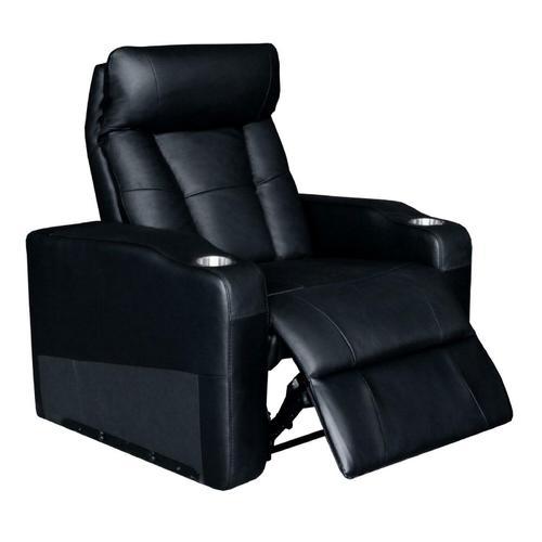 Coaster - Pavillion Black Leather Right Recliner