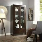 ACME Hadrius Curio Cabinet - 90304 - Walnut Product Image