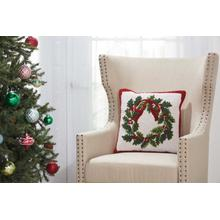 "Home for the Holiday Yx106 Multicolor 18"" X 18"" Throw Pillow"