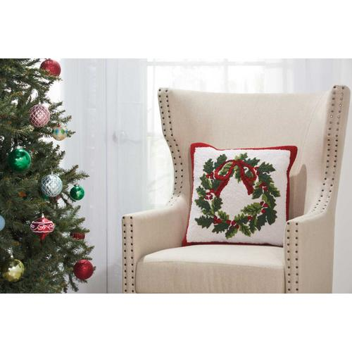 """Home for the Holiday Yx106 Multicolor 18"""" X 18"""" Throw Pillow"""
