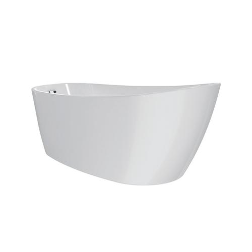"""Lulu 71"""" Acrylic Slipper Tub with Integral Drain and Overflow - Oil Rubbed Bronze Drain and Overflow"""